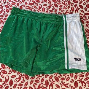 Green Nike women's athletic shorts size large